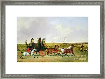 Horse And Carriage Framed Print by David of York Dalby
