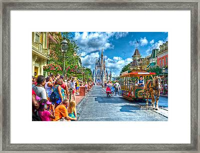 Horse And Carriage Framed Print by Ryan Crane