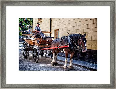 Horse And Cart Framed Print by Adrian Evans