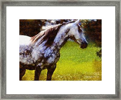 Horse And I Will Wait For You Framed Print by Janine Riley