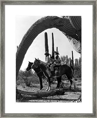 Horse And Riders Framed Print by Retro Images Archive
