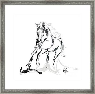 Horse- Andalusian Angel Framed Print by Go Van Kampen