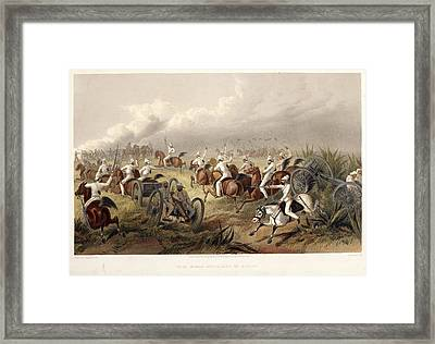 Horse Artillery In Action Framed Print by British Library