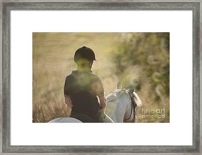 Horse Back  Framed Print by Graham Foulkes