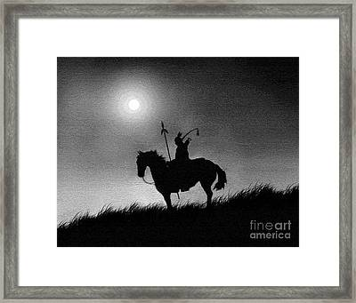 Horse Brave Framed Print by Robert Foster
