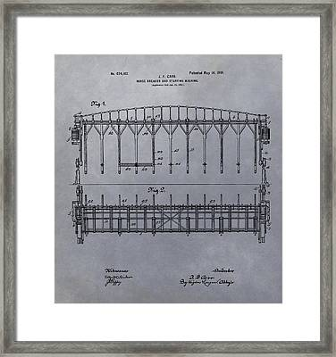Horse Breaker Patent Framed Print by Dan Sproul