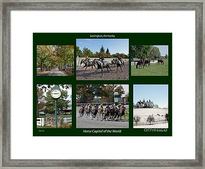 Horse Capital Of The World Framed Print by Roger Potts