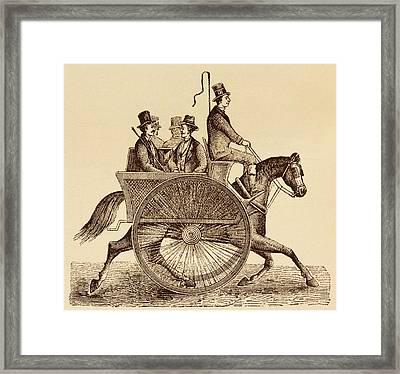 Horse Carriage Illustration Framed Print by David Parker