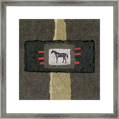 Horse Collage Framed Print by Carol Leigh