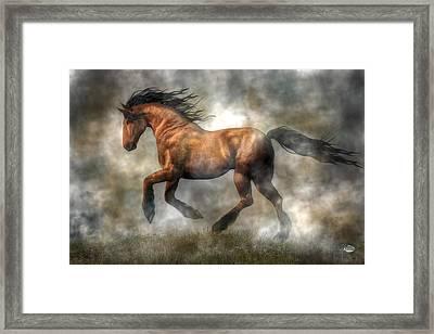 Horse Framed Print by Daniel Eskridge