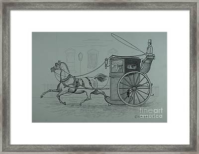 Horse Drawn Cab 1846 Framed Print by William Goldsmith