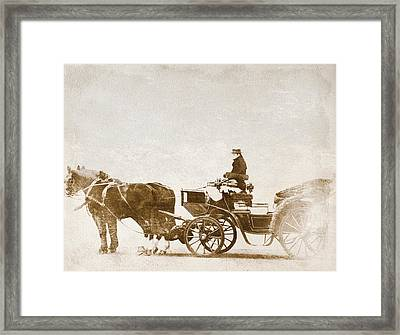 Horse-drawn Carriage Framed Print by Heike Hultsch