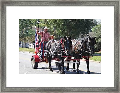 Horse Drawn Cart Framed Print by Carolyn Ricks