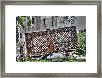 Rusted Horse Drawn Paddy Wagon Framed Print by Dale Powell