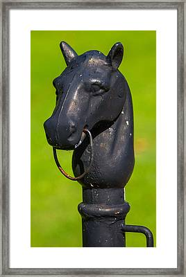 Hitching Post Framed Print by Robert Hebert