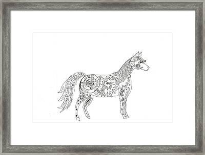Horse  Framed Print by Heather  Stirnweis