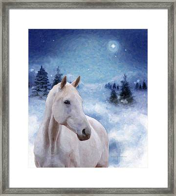 Horse In Winter Framed Print by Kenny Francis