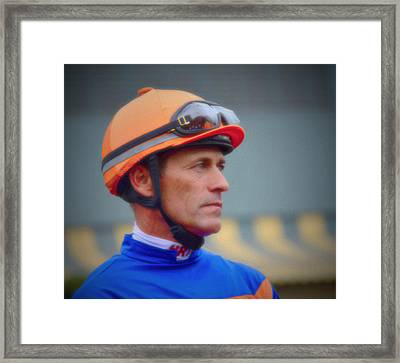 Horse Jockey- Gary Stevens Framed Print by See My  Photos