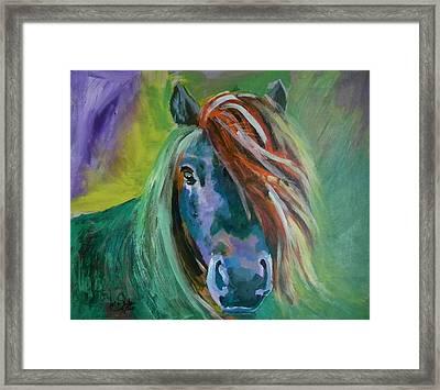 Horse Framed Print by Jolanta Shiloni