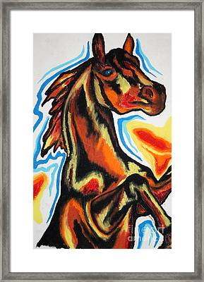 Horse Of A Different Color Framed Print by Kryztina Spence