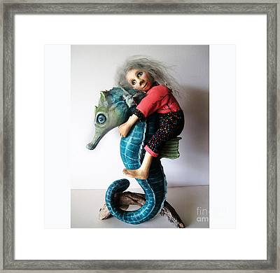 Horse Of A Different Color Framed Print by Linda Apple