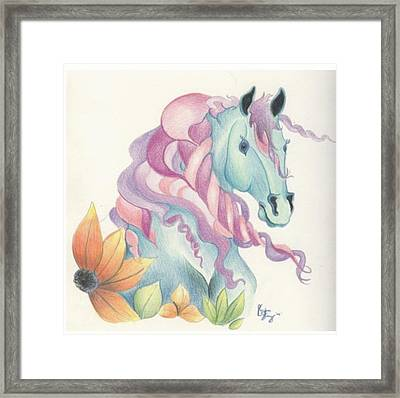 Horse Of A Different Colour Framed Print by Kirsten Slaney