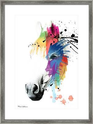 Horse On Abstract   Framed Print by Mark Ashkenazi
