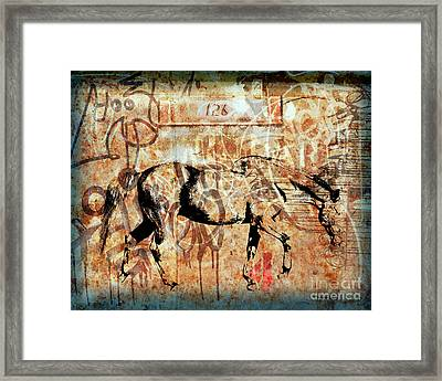Horse One Twenty Six Framed Print by Judy Wood