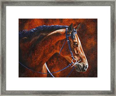 Horse Painting - Ziggy Framed Print by Crista Forest