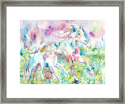 Horse Painting.17 Framed Print by Fabrizio Cassetta