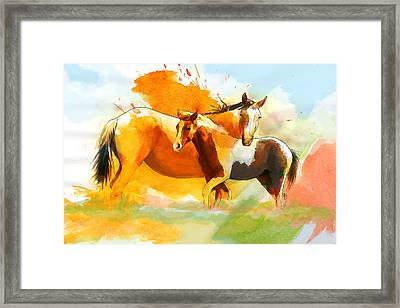 Horse Paintings 013 Framed Print by Catf