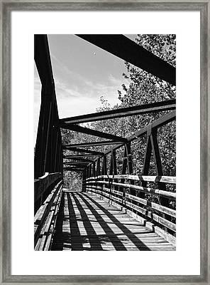 Horse Pen Creek Bridge Black And White Framed Print by Sandi OReilly
