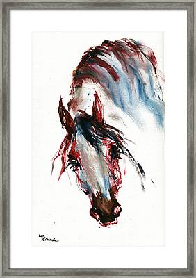 Horse Portrait Framed Print by Angel  Tarantella