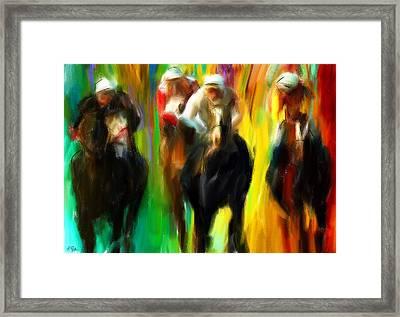 Horse Racing IIi Framed Print by Lourry Legarde