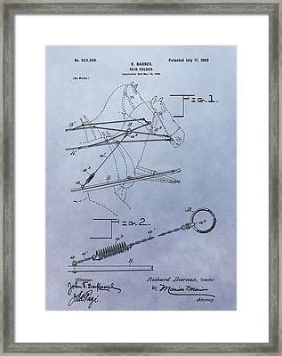 Horse Rein Patent Framed Print by Dan Sproul