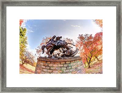 Horse  Rider Framed Print by Mark Ayzenberg