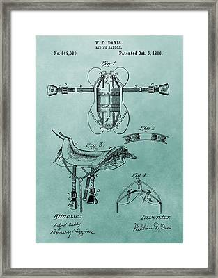 Horse Saddle Patent Canvas Framed Print by Dan Sproul