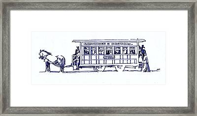 Horse Trolly  Framed Print by Dale Michels