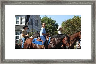 Horseback Riders Framed Print by Carolyn Ricks