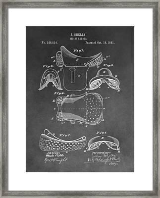 Horseback Saddle Patent Framed Print by Dan Sproul