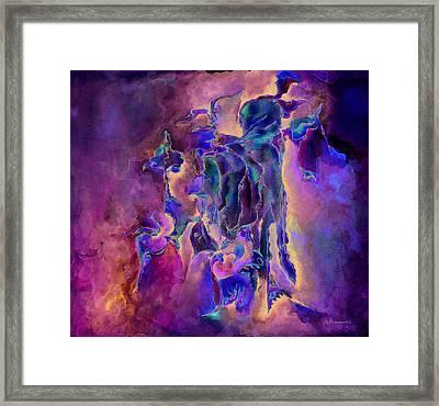 Horses Framed Print by Bodhi
