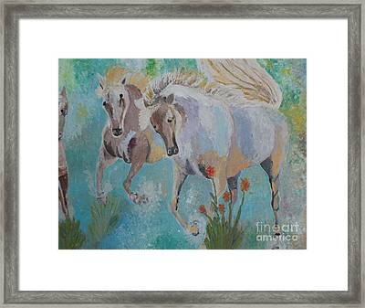 Horses From Camargue 2 Framed Print by Vicky Tarcau
