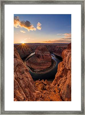 Horseshoe Bend Framed Print by Chad Dutson