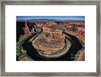 Horseshoe Bend Framed Print by Chuck Kuhn