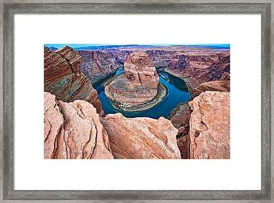 Horseshoe Bend Morning - Colorado River Photograph Framed Print by Duane Miller