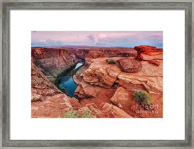 Horseshoe Bend Navajo Nation Page Arizona Colorado River Peek-a-bo Framed Print by Silvio Ligutti