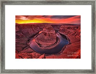 Horseshoe Bend Sunset Framed Print by Adam Jewell