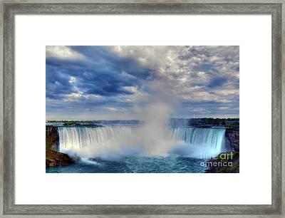 Horseshoe Falls Framed Print by Mel Steinhauer