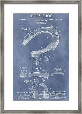 Horseshoe Patent Framed Print by Dan Sproul