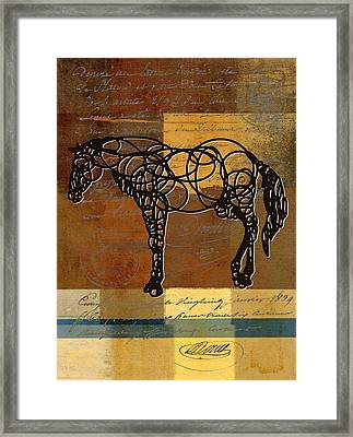Horso - 70s01br02t Framed Print by Variance Collections